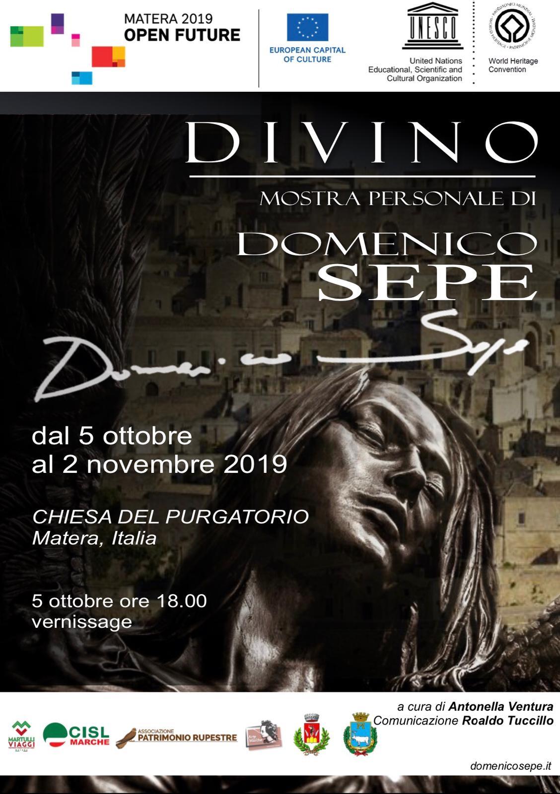 'Divino', a Matera arriva l'arte del Maestro Domenico Sepe