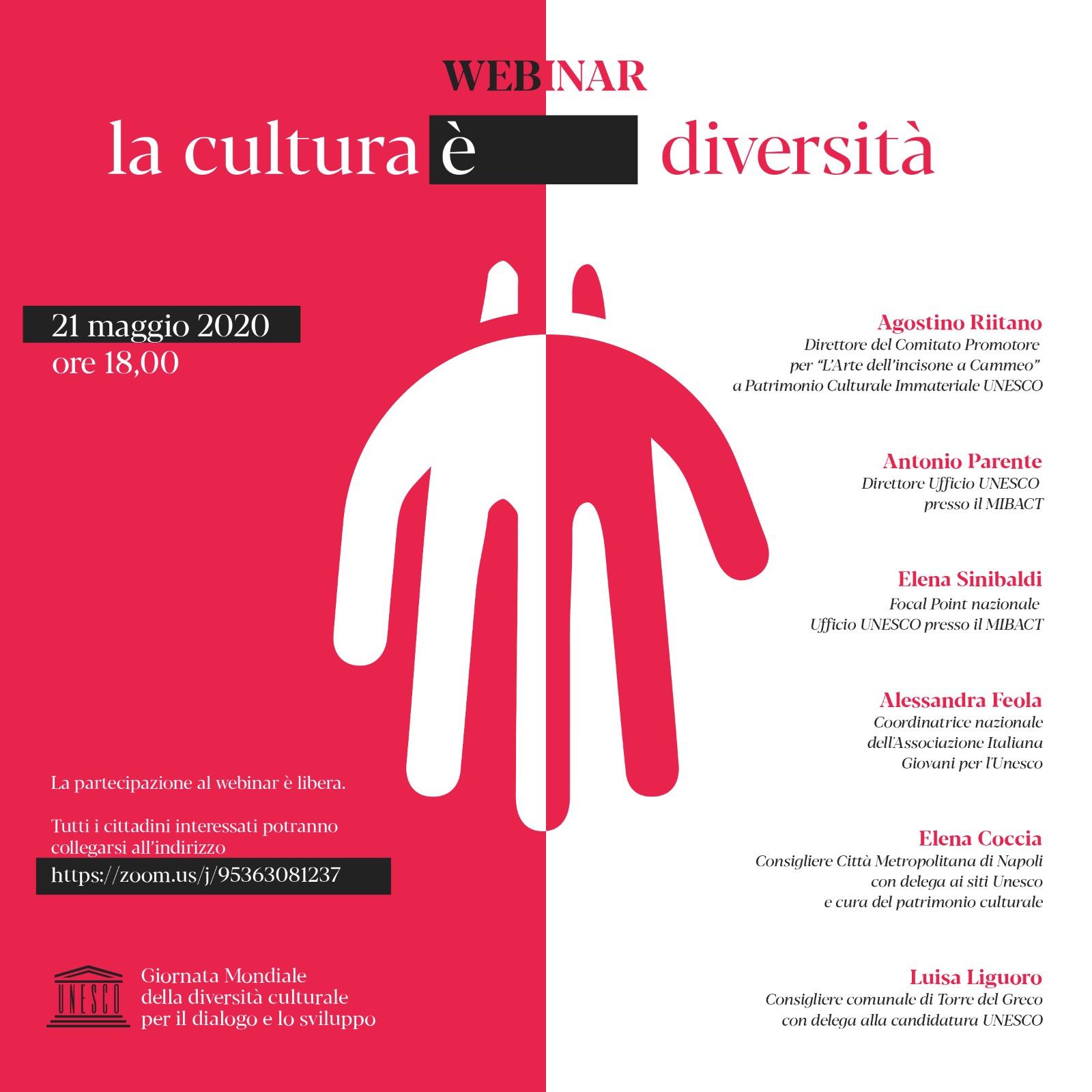 "WEBINAR ""La cultura è diversità"""