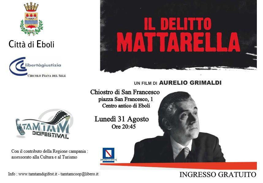 Tam tam Digifest, il 31 Agosto proiezione de 'Il delitto Mattarella'