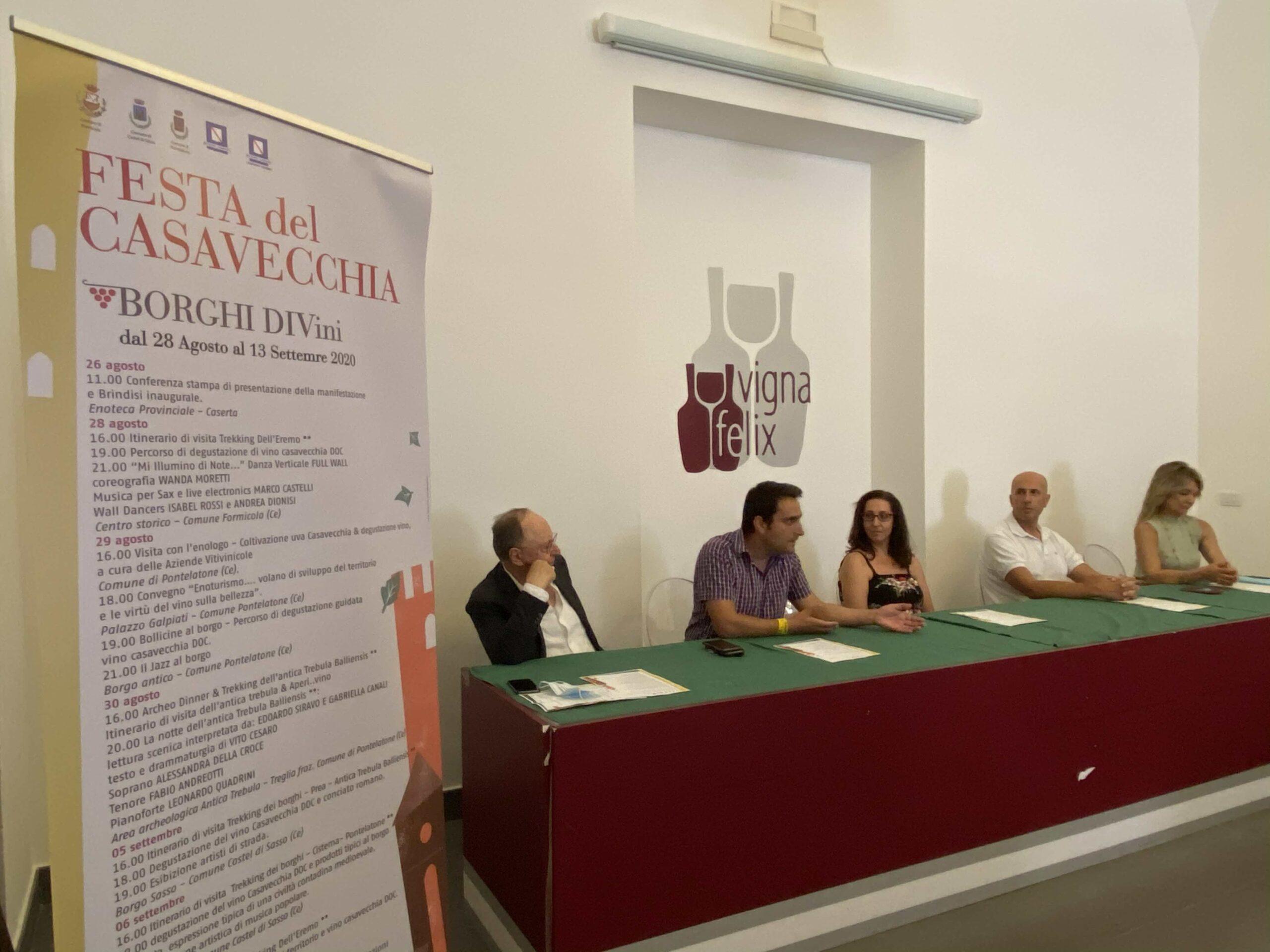 Borghi DiVini, Festa del Caserta Vecchia dal 28 agosto al 13 settembre