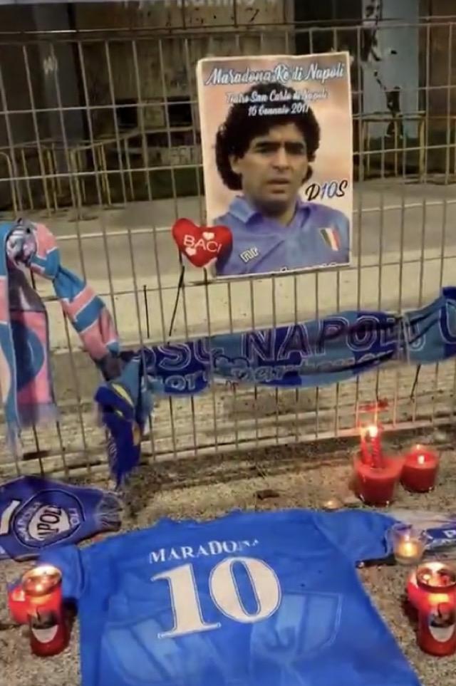 Napoli si mobilita per Maradona: tifosi al San Paolo per commemorare El Pibe de Oro